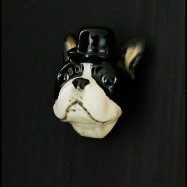 Boston Terrier Door Knob