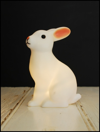 montys, vintage, collectable, rabbit, night, light