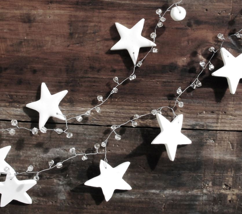 White Star Christmas Garland